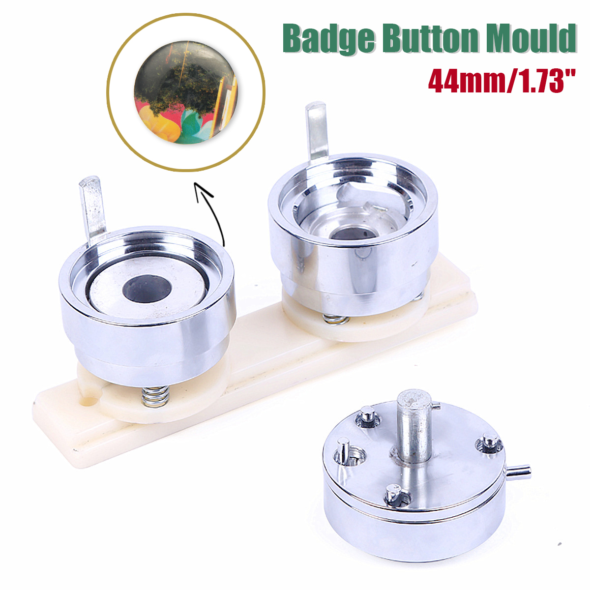 44mm 1.73 Badge Pin Making Mould Button Maker Punch Press Machine Metal DIY44mm 1.73 Badge Pin Making Mould Button Maker Punch Press Machine Metal DIY