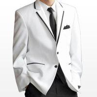 ที่มีคุณภาพสูงที่นิยมมากที่สุดสีขาวแต่งงานทักซิโดชายชุดแต่งงานชุดเจ้าบ่าวทักซิโด