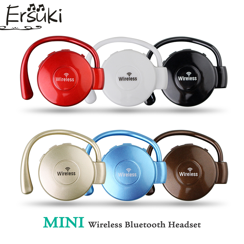 Ersuki Mini Bluetooth Headphone Wireless Earphone Sports Headset Auriculares Earbuds with Mic for phone fone de ouvido wireless bluetooth headset v4 0 sports earphone gym headphone with mic earbuds universal for apple 7 plus xiaomi mobile phone