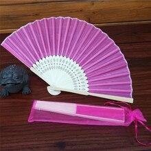 Красочный Складной вентилятор в китайском стиле ручной Вентилятор Бамбуковый Шелковый складной веер вечерние свадебные Декор дропшиппинг июня#6