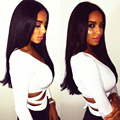 Brazilian Straight Virgin Hair Lace Front Wig Straight Brazilian Hair Wig Straight Short Wigs Human Hair 7A Brazilian Lace Wig