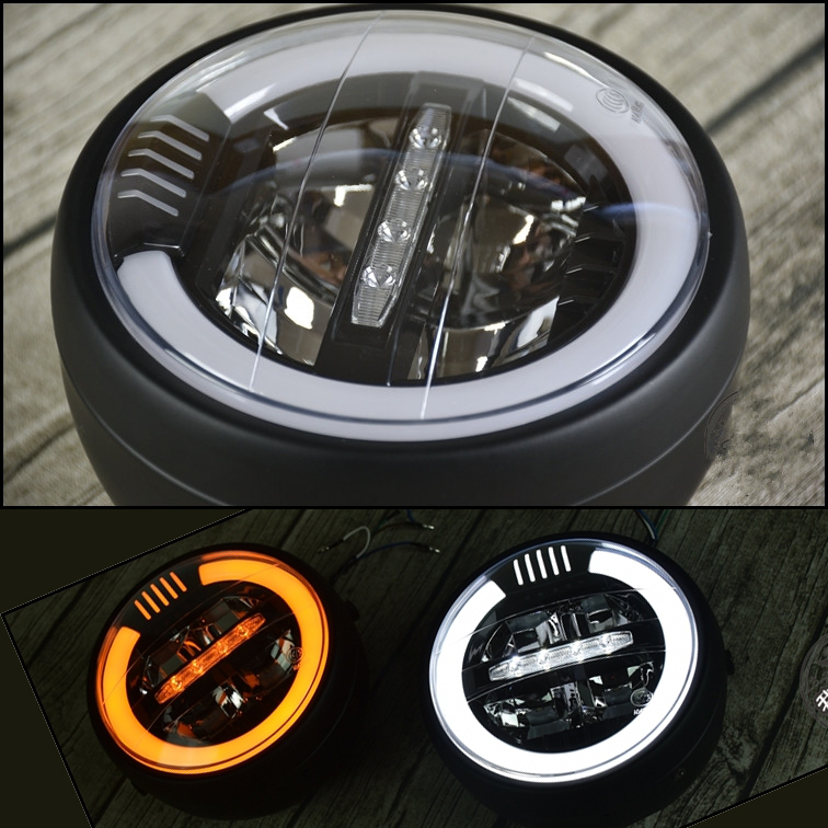 6 8 inch Universal Vintage Motorcycle LED Headlamp distance light Refit motorcycle headlight Cafe Racer 17