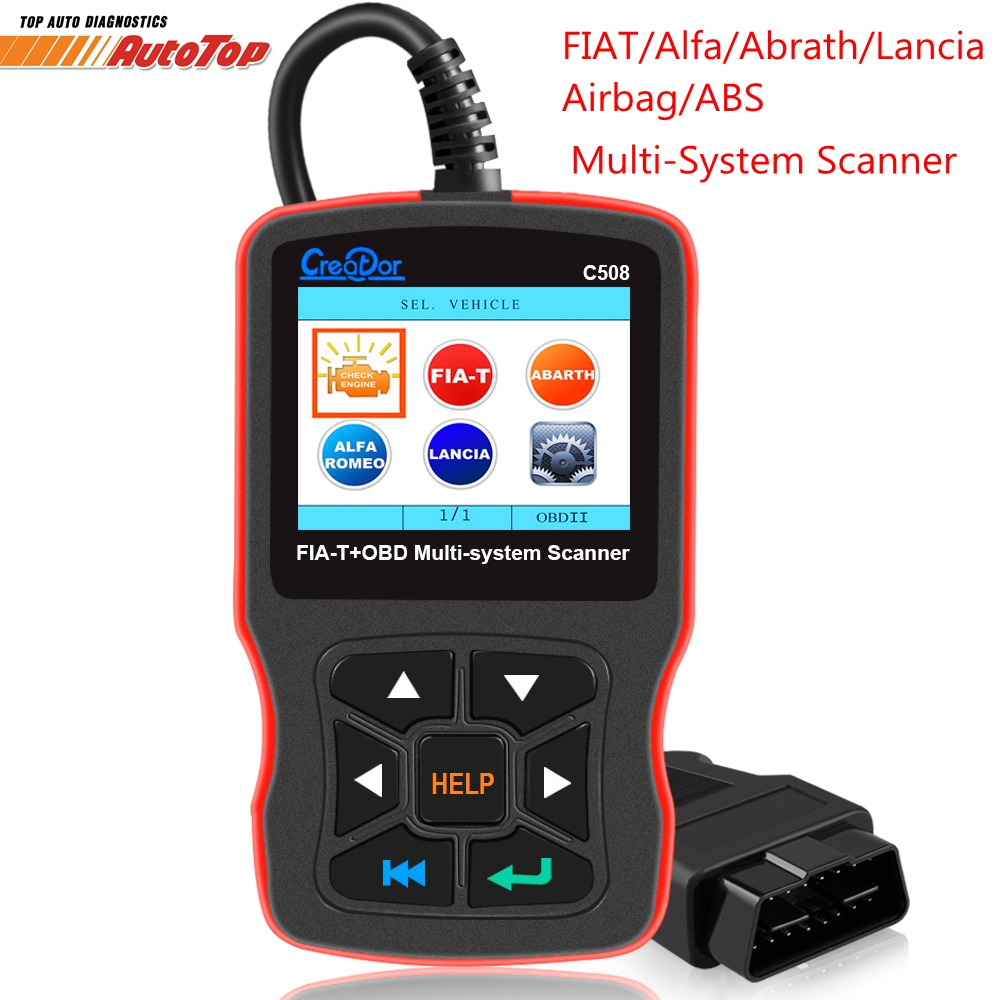 Creator C508 OBDII/EOBD Scanner for FIAT/Alfa/Abrath/Lancia Airbag/ABS Diagnostic Car New OBD 2 Auto Scanner Diagnostic Tool new sale obd ii 2 car auto oil service reset diagnostic scanner tool for vw volkswagen high quality