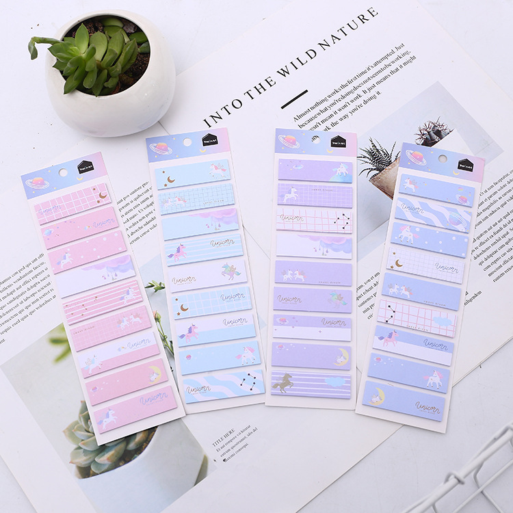 Space Unicorn Self-Adhesive N Times Memo Pad Sticky Notes Bookmark School Office Supply