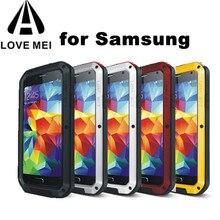 Miłość MEI odporny na działanie wody metalowa obudowa dla SAMSUNG Galaxy S10 S8 S9 S20 Plus uwaga 10 9 8 A3 A5 2017 A6 A8 A8S S10E A70 A50 A51 A71