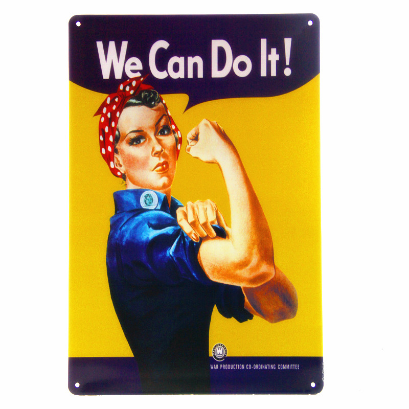 WE Can Do It Vintage Metal Tin Signs Retro Wall Decor Bar Tin Signs Home Decorative Sexy Art Poster Painting 20*30cm A355