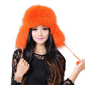 Women Fox Fur Hat Winter Fashion Really Real Fox Fur Hat Lei Feng Women Fox fur Hat Russian Variety of Colors Bomber Hats H#20
