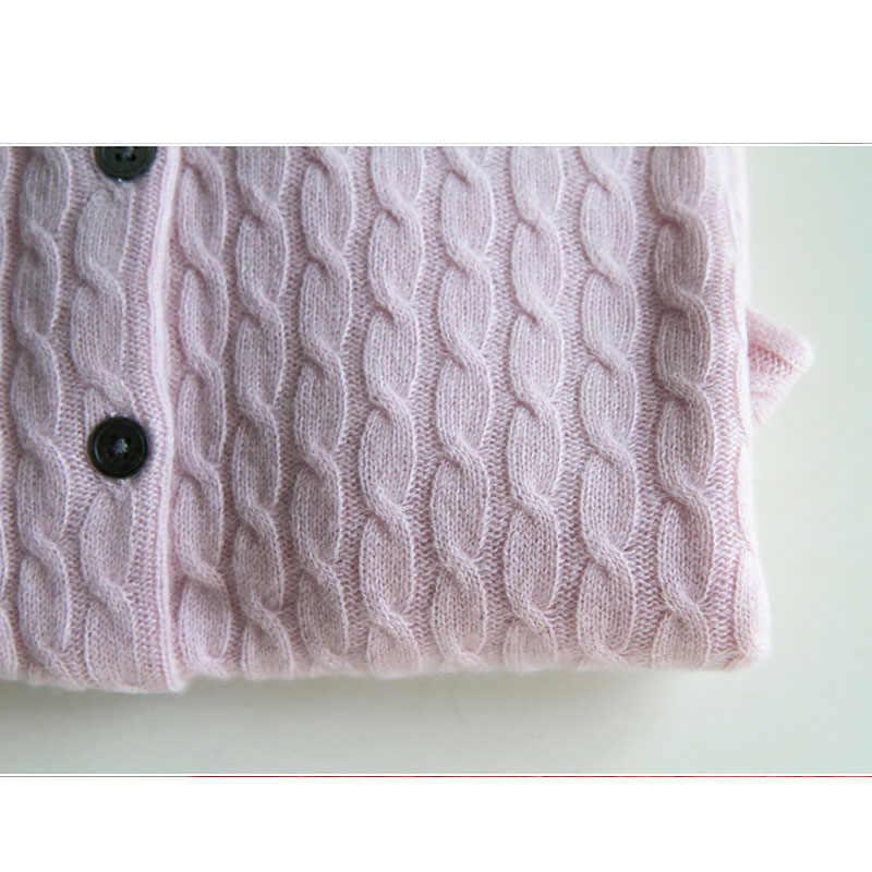 YUNSHUCLOSET 2017 зима Женская Вязаная кашемировая шерсть керлинг кардиган с круглым вырезом одноцветное цвет одежда кардиган бесплатная доставка