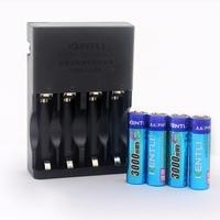 Free Shipping KENTLI 4pcs 1 5v 2800mWh MAh Rechargeable Lithium AA Battery 4 Slots AA AAA