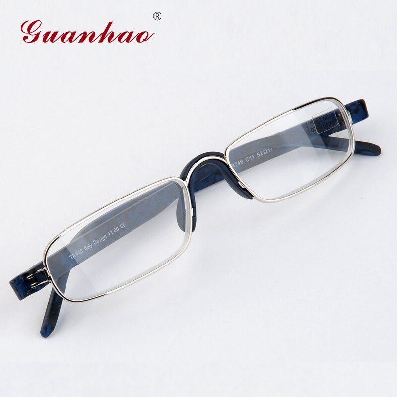 42b7fa63e2 Gafas de lectura ópticas transparentes Guanhao hombre transparente Mujer  presbicia hiperopía gafas de lectura marco aleación ultraligero HD vista en  De los ...