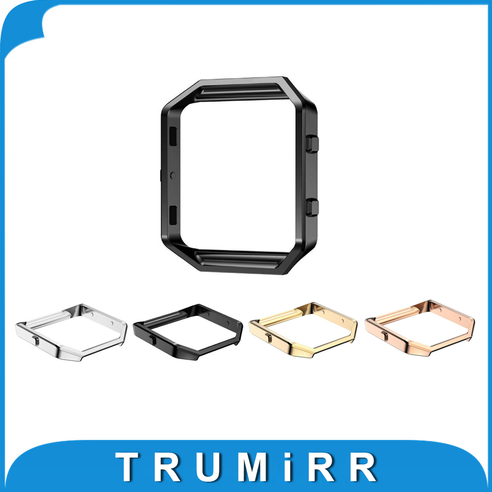 Smartwatch Metal Frame for Fitbit Blaze Smart Fitness Watch Replacement Housing Polished Stainless Steel Black Rose Gold Silver joyozy replacement stainless steel chain bands with metal frame for fitbit blaze silver black rose gold