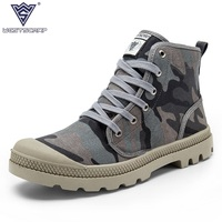2016 New Unisex Fashion Canvas Shoes For Men Casual Canvas Boots Brand Camouflage Fashion Boots For