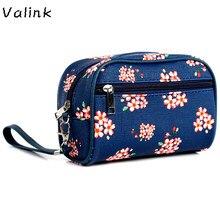 Valink nuevo bolso impermeable de la playa bolsa de maquillaje cosmético del artículo de tocador flor viajar compone el bolso de las señoras bolsas neceser maquillaje