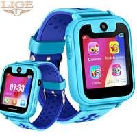LIGE nuevos relojes para niños reloj inteligente para niños LBS posición de estación base antipérdida llamada SOS LED Color pantalla táctil reloj de bebé