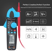 Digital Clamp Meter Multimeter True RMS AC DC Voltage Current Capacitance Temperature Frequency Measure AmperimetroTester LCD cem everbest dt 3345 true rms ac clamp meter 1000a high current digital clamp meter