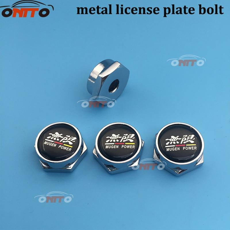 20pcs Car License Plate Frame Decor Screws Bolts Caps Cover Thread For Honda BMW