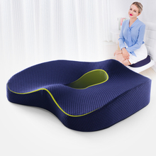 Almofada de assento de espuma de memória ortopédica antiderrapante para cadeira de escritório carro cadeira de rodas apoio para trás ciatica coccyx alívio da dor do cóccix