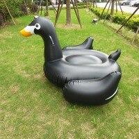 150 cm Aufblasbare Schwarze Schwan Pool Aufblasbare Fahrt-auf Ente Spielzeug Schwimmen Schwimmer Wasser Strand Matratze Floß Boia Piscina
