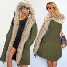 Alishebuy Плюс Размер Женская Мода Зима Теплая Искусственного Меха С Капюшоном Открытой Передней Руно Куртка Твердые Пальто с Карманом