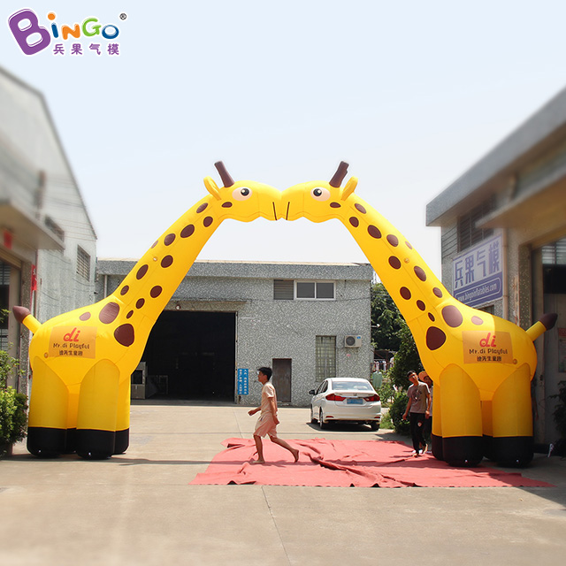 GREAT CRAFT 10x1.7x5.3m inflatable giraffe arch balloon 2 giraffes archway personalized advertising zoo playground entranceGREAT CRAFT 10x1.7x5.3m inflatable giraffe arch balloon 2 giraffes archway personalized advertising zoo playground entrance