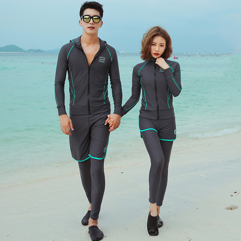 Rhyme Lady Swimming Clothes For couples Swimsuit Korea Surf Swimwear 2019 New arrivals bathing suit lover