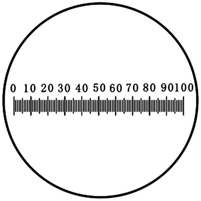 DIV 0.1 mm Eyepiece Micrometer Ocular Reticle Measuring 0-100  HorizontalRuler Scale 20 mm Calibration
