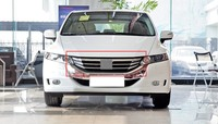 For Honda Odyssey 2009-2014 Front Racing Grille Bumper Chrome Trim 1PC