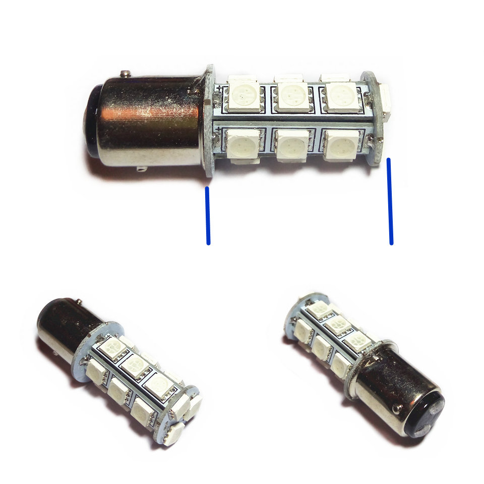 12V LED Car Bulb P21 / 5W S25 / 1157 BAY15d Alto / Baixo ângulo - Faróis do carro - Foto 4