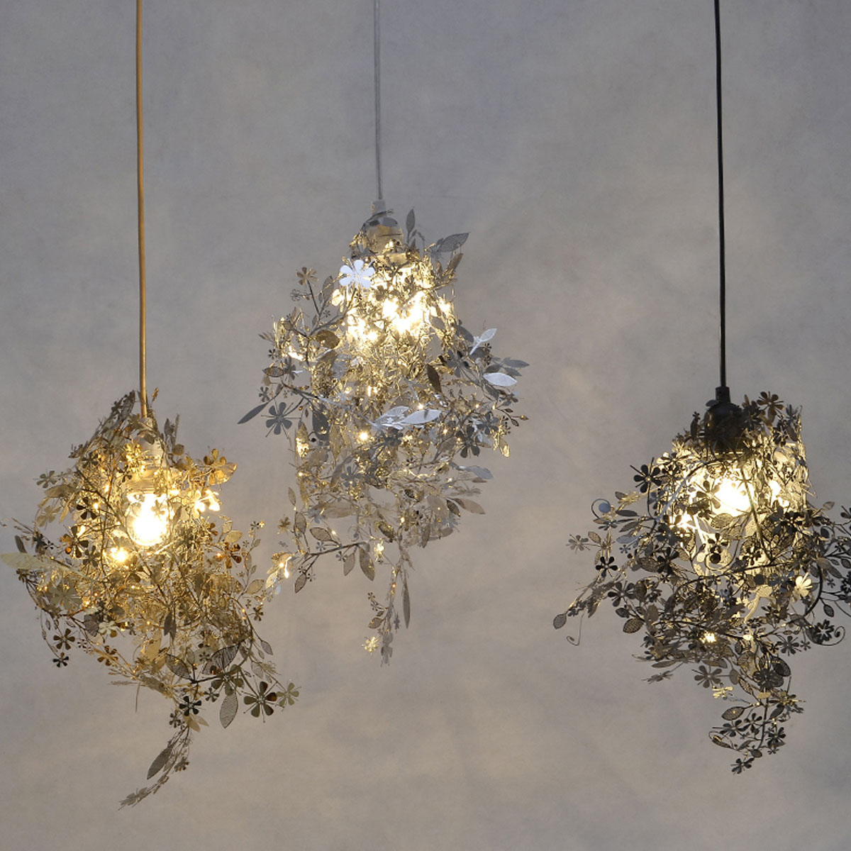 Exceptionnel Modern Unique Chandelier Simple Leaves DIY Chandelier Gold/Chrome 40W  Shadeless Light Dining Room Loft Bedroom Lighting Decor In Chandeliers From  Lights ...
