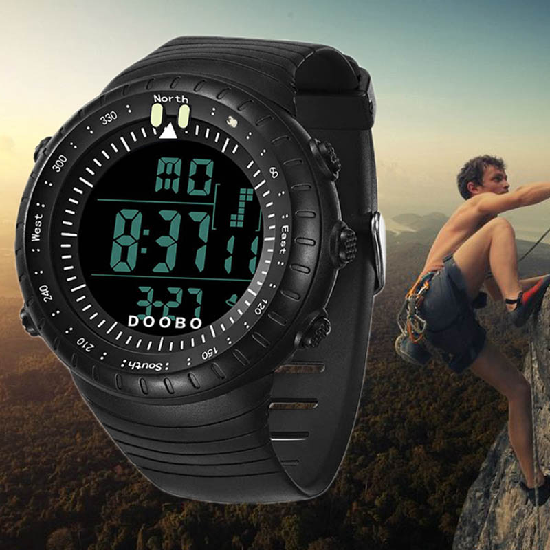 6fd978d5a الساعات الرجال LED الرقمية ووتش Reloj Hombre الجيش العسكرية في الهواء الطلق الرياضة  ساعة اليد Relogio Masculino السباحة تسلق الأزياء ساعة
