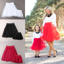 2019 Family Matching Outfits Mother and Daughter Skirts Women Kids Girls Lace Tutu Dress Party Wedding Formal Dress(China)