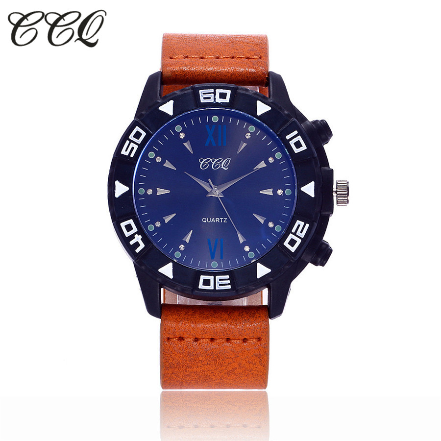 CCQ Luxury Brand Military Watch Men Quartz Analog Clock Leather Strap Clock Man Sports Watches Army Relogios Masculino C110 настенное бра silverlight 726 48 1