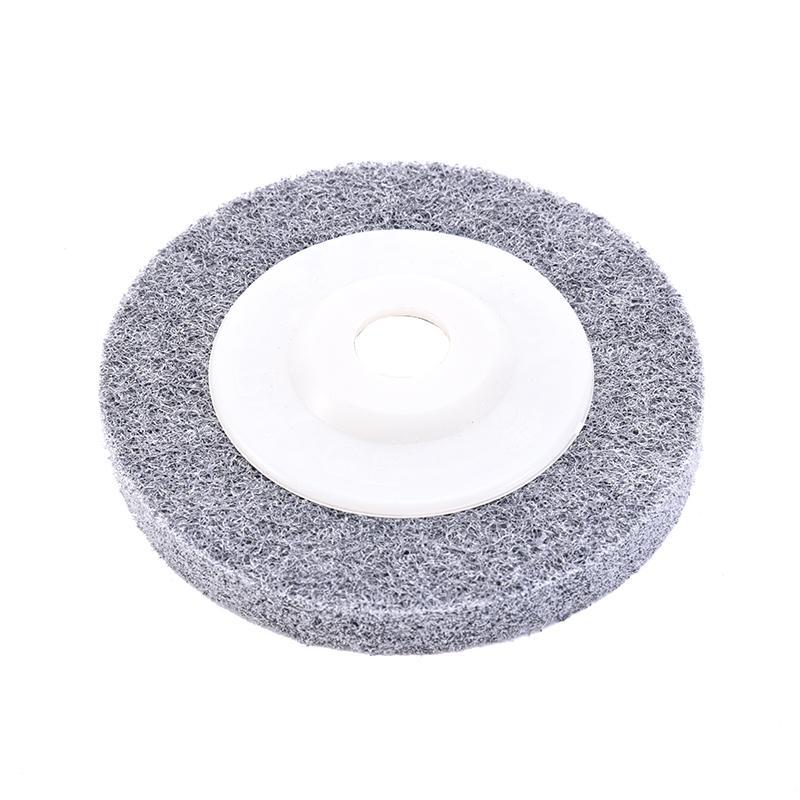 1Pc 100 * 12 * 16 Mm Fiber Polishing Wheel Buffing Pad Grinding Abrasive Disc For Metal Wood Polishing On Angle Grinder