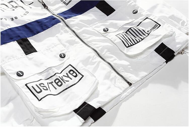 yizlo Spring Autumn Men Windbreaker Jacket Brand Fashion Hip Hop Thin Zipper Casual Jacket Mens Outwear anorak