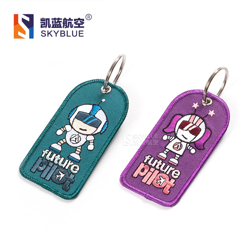 Creative Airbus Luggage Tag Airbus Embroider Colorful Fabric Cloth Bag Tag for Future Pilot Fight Crew Airline Hostess