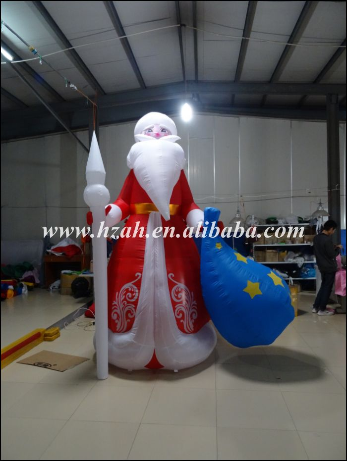 Newest Inflatable Western Santa Christmas Decorations giant christmas inflatable santa inflatable christmas father large santa claus free shipping