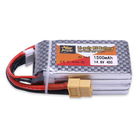 1pcs ZOP Power 14 8V 1500mAh 4S 40C Lipo Battery XT60 T EC5 XT30 XT90 Plug