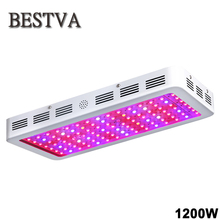 BESTVA 1200W double chips led grow light full spectrum led grow lamp for indoor greenhouse plants hydroponic