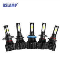 Oslamp S5 H1 H3 H4 H7 H11 COB LED Headlight 8000lm 72w 6500K Car Front Bulb