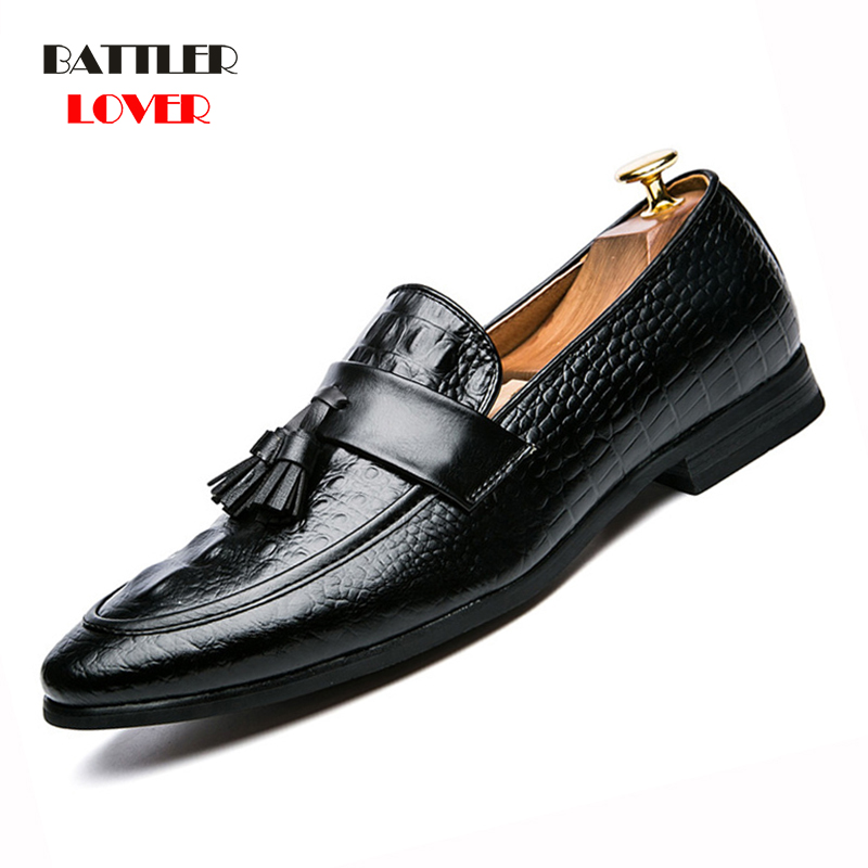 Pointed Toe Mens Dress Shoes Crocodile Genuine Leather Luxury Wedding Shoes Floral Print Men Flats Office wedding party Formal