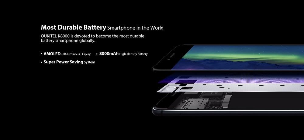 Oukitel K8000 Phone 5 5″ HD AMOELD LCD 4GB RAM 64GB ROM