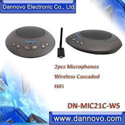 Darmowa wysyłka: DANNOVO 2x mikrofonów bezprzewodowych łączone kaskadowo dla duży pokój  WebEx  Microsoft Lync  Skype  blueJeans  Zoom i Jabber w Systemy konferencyjner od Komputer i biuro na