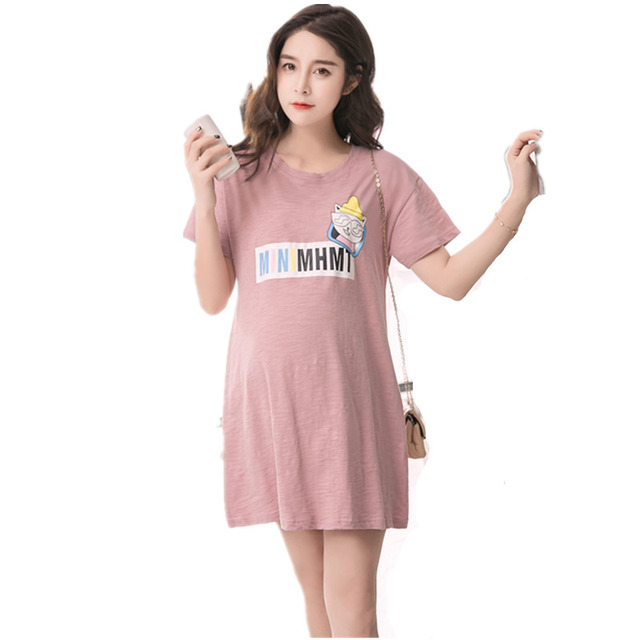 b761aab04 Summer Maternity Tops T shirt For Pregnant Women Clothes Casual Loose Print  Tee Top Maternity dress plus size for pregnancy