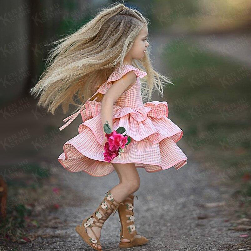 100% QualitäT 2 Zu 7 Jahre Alt Prinzessin Plaid Kleid Baby Mädchen Kleider Kostüm Kinder 2018 Kinder Kleidung Für Mädchen Geburtstag Party