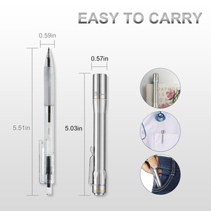 Image 2 - Lumintop IYP365 TI Pocket Penlight Nichia/Cree LED IPX8 Waterproof 3 Modes 2AAA smart titanium pen flashlight for Medical