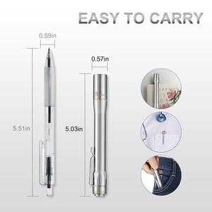 Image 2 - Lumintop IYP365 TI poche Penlight Nichia/Cree LED IPX8 étanche 3 Modes 2AAA smart titane stylo lampe de poche pour médical