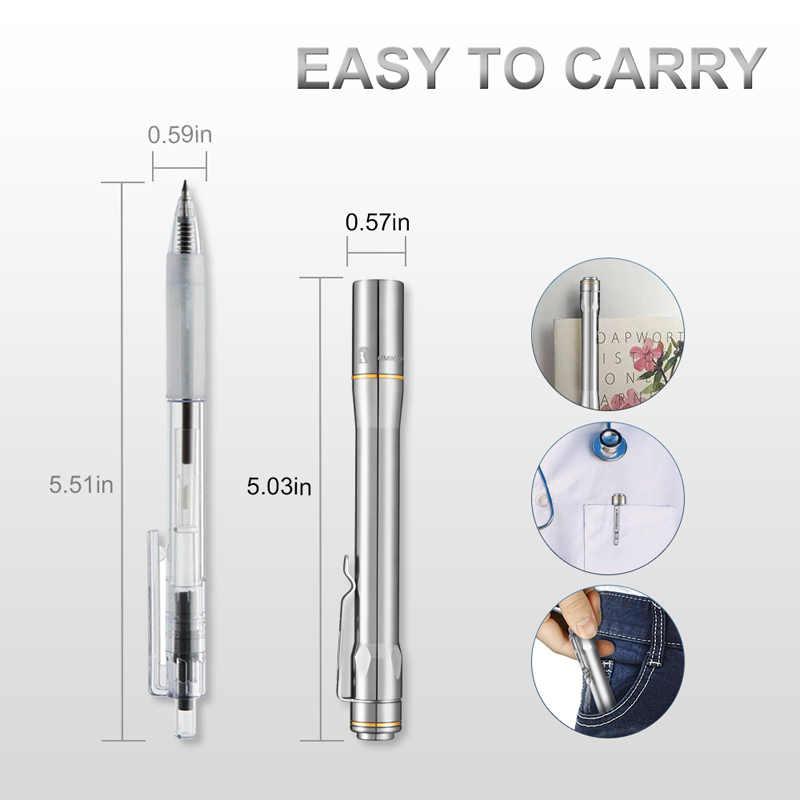 Lumintop iyp365 ti bolso penlight nichia/cree led ipx8 à prova d2água 3 modos 2aaa inteligente titânio caneta lanterna para médico