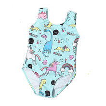 цена на Unicorn Swan Swimsuit for Girls 12M-8Y Baby Girl One Piece Swimsuit Cute Kids Swimming Suit Pink Cartoon Children Bathing Suit
