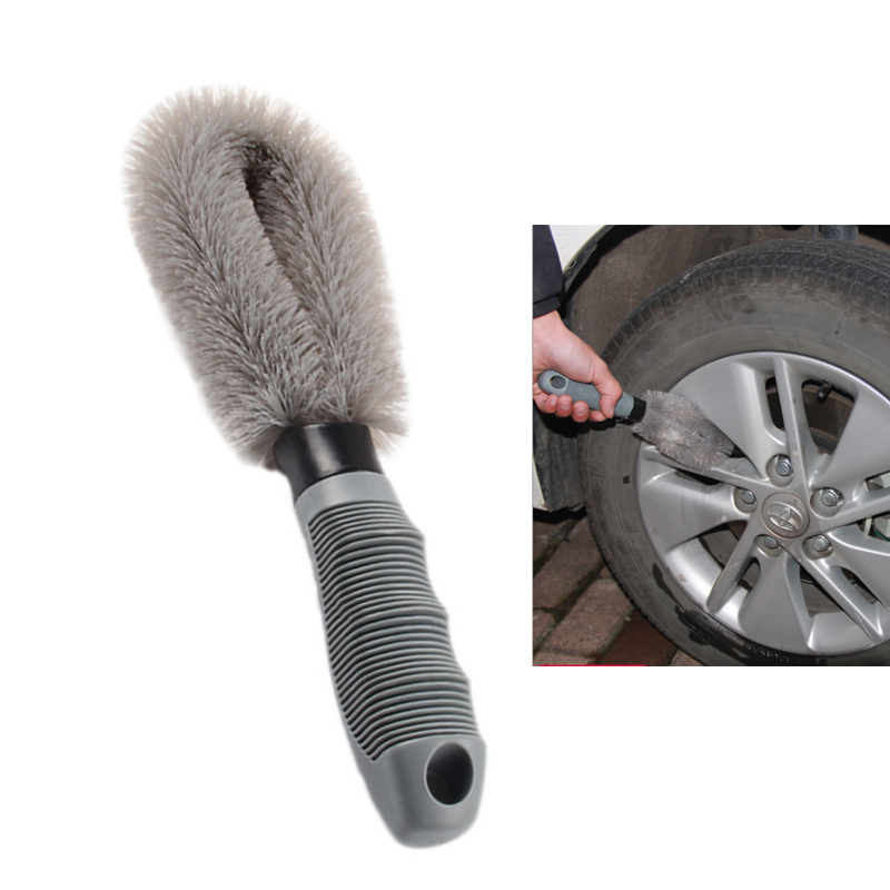 Carclean Detailing brush Car Wheel Cleaning Brush Tool Tire Washing Clean Type Alloy Soft Bristle Cleaner Auto Products For Car