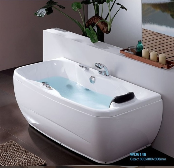 Fiber glass Acrylic whirlpool bathtub Three side Skirt Apron Hydromassage Tub Nozzles Spary jets spa RS6146